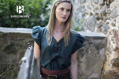 Mittelalter Frauengewand Kleid Bäuerin Agga / LARP - Grün von Burgschneider