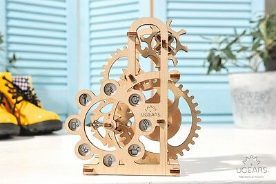 UGEARS Dynamometer Machanical 3D Wooden Puzzle BrainTeaser for Teens and Adults