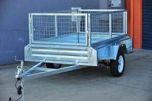 Heavy Duty 7x4 Box Trailer with 600mm Cage Underwood Logan Area Preview