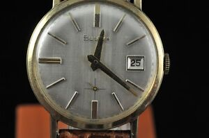 VINTAGE-MENS-BULOVA-WRISTWATCH-WITH-DATE-CALIBER-11ALD-KEEPING-TIME