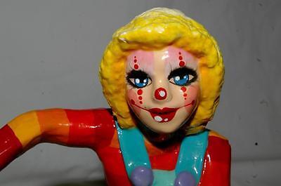 Vintage Constantino Papier Mache  Clown Signed