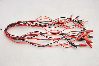 Alligator Test Clip Patch Cord To Spade Connector Mixed Lot Of 11