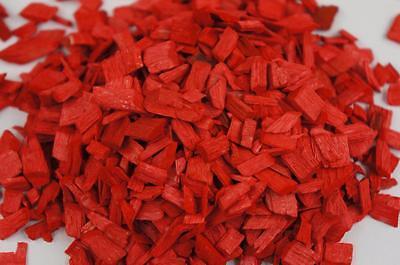 50L Wood Chip Coloured Garden Mulch Flower Bark Cork Wedding Decorative RED