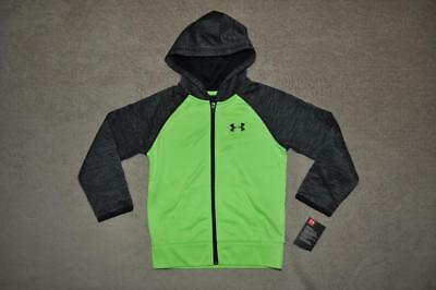 Under Armour Toddler Boys Full Zip Hoodie Size 5 Green/Black/Gray NWT ()
