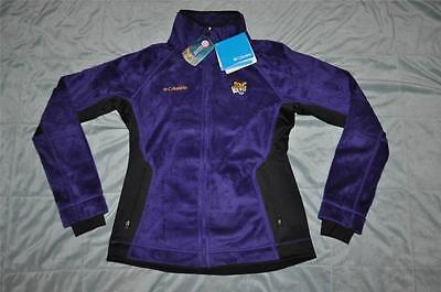 Columbia LSU Tigers Womens Pearl Plush Fleece Full Zip Jacket Purple Columbia Pearl Plush