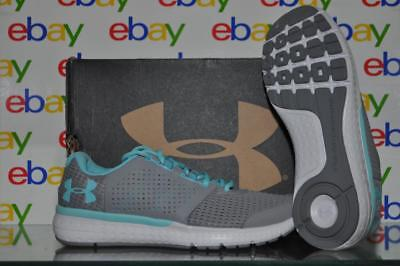 Under Armour Womens Micro G Fuel Running Shoes 1285487 035 Size 9.5 Gray