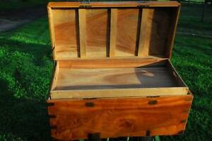 Old Pine Wooden CAMPHER CHEST / TRUNK FREE DELIVERY PERTH Serpentine Serpentine Area Preview