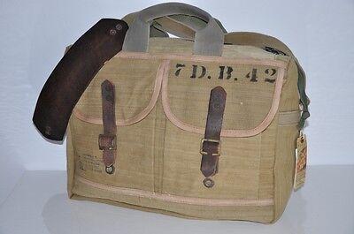 Ralph Lauren RRL LEATHER & HEAVY CANVAS Messenger Bag