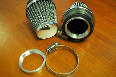 Pair of Emgo Cone Universal Air Filters (Clamp On) 48mm **Triumph / BSA**