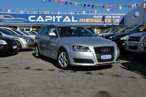 2010 Audi A3 8P MY10 TFSI Sportback S Tronic Attraction Silver 7 Speed Sports Automatic Dual Clutch