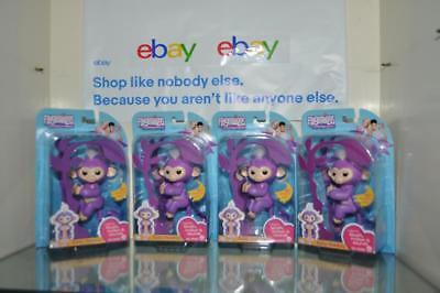 Fingerlings Mia Purple Wowwee Fingerlings Interactive Baby Monkey New Sealed