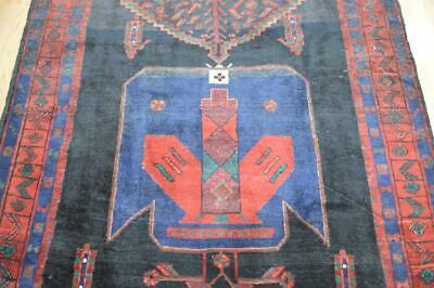 "4'10 x 11 ""Iron Rug"" Genuine S Antique Kurdish Tribal Handmade Wool Carpet 5x11, usado comprar usado  Enviando para Brazil"
