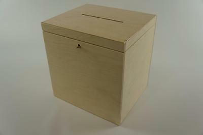 Wooden Lockable Plain Chest Storage Card Box Decoupage Wedding Cards P29/30zs