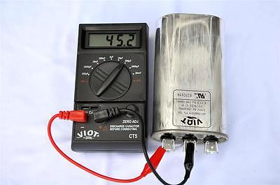 Digital Capacitor Tester Wide Range Pf- 20mf High Accuracy Hvac Electrian Tool