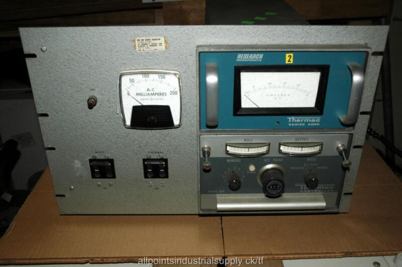 Micro-Thermac D30 Controller RI Research Incorporated Series 6000 Temperature