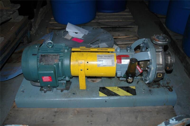 "FlowServe Flow Serve Durco MK3 Pump 1x1.5"" & 3 HP Reliance Motor 230/460 V"