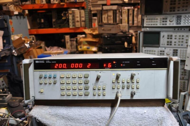 HP 5335A Universal Counter Option 10 and 40 Good Condition!!! 200MHz +