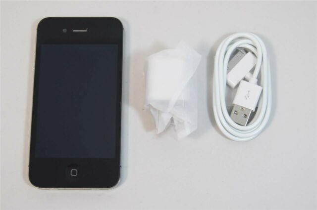 Very Good Used Black Apple iPhone 4 8GB AT&T LOCKED A1332 Cell Phone