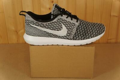 Nike unboxed 2014 Flyknit Roshe Beethoven running shoes UK size 10 black white