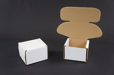 500 White Postal Cardboards Boxes Mailing Shipping Cartons Small Parcel Mail AP4