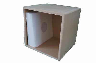 "12"" Vinyl Storage Cube LP Record Box Cabinet Case Unit"