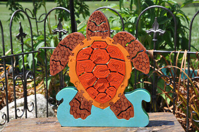 Survivor Challenge Turtle Wooden Puzzle Made In USA Toy Puzzle Figurine Art NEW - $26.99