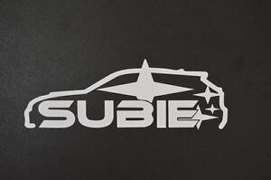 Subie Subaru STI Impreza jdm AWD rally window sticker vinyl decal #246