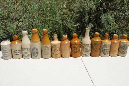 Offers Wanted 13x Old AUSTRALIAN GINGER BEER Stoneware bottles