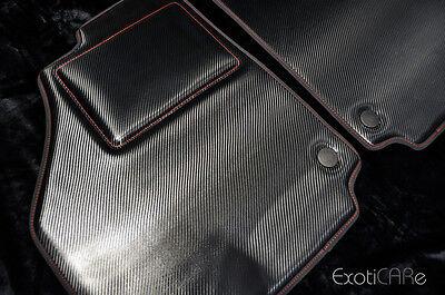 Ferrari 458 Italia Spider 488 GTB Carbon Fiber Floor Mats - F355 360 F430 599