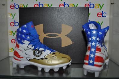 Under Armour Football Cleats Highlight RM JR LE Boy/'s 300196 002 USA Eagle NIB