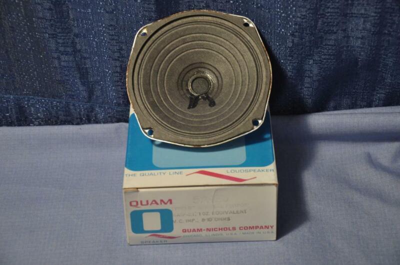 "Quam 5A1Z8 5"" General Purpose Replacement Speaker 8-10 Ohm 1oz Magnet made USA"