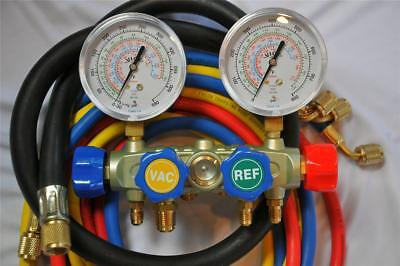 New4-way Manifold Gauge4-hose Set R410a R22professional Hvacr Service Tool
