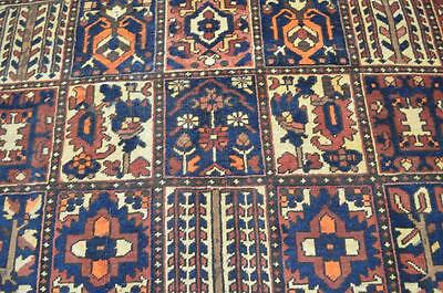 7x10 Amazing 1930s Genuine Antique Persian Bakhtiar Animal Hand Knotted Wool Rug