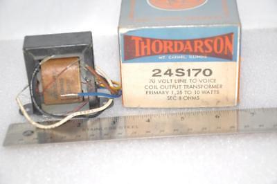 Thordarson 24s170 70 Volt 10w To 1.25 Watt Audio Line Matching Transformer 8 Ohm