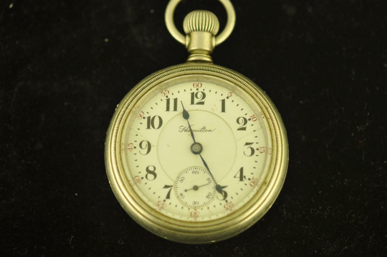 VINTAGE 18S HAMILTON SWING OUT DISPLAY BACK POCKET WATCH GRADE 940 FROM 1907