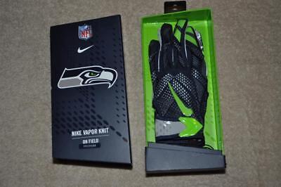 Seattle Seahawks NIKE Vapor Knit Gloves Football Team Issued On Field  Medium NWT f7be227af1e6