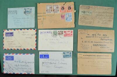 BURMA STAMP COVERS SELECTION OF 9   (Z22)