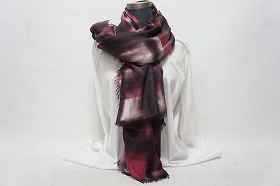 BURBERRY GIANT EXPLODED CHECK TIE DYE SQUARE SCARF FRITILLARY PINK CHECK