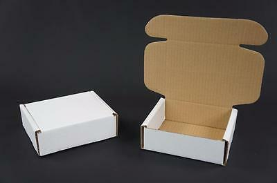 500 White Postal Cardboards Boxes Mailing Shipping Cartons Small Parcel Mail AP7
