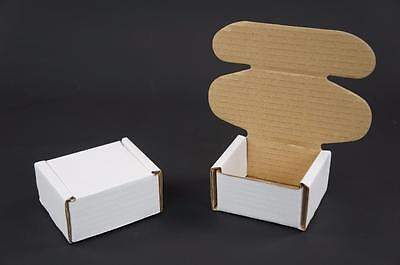 500 White Postal Cardboards Boxes Mailing Shipping Cartons Small Parcel Mail AP6