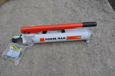 Spx Power Team P157 Hand Pump Wflush Face Coupler And Enerpac Cr400 Mint