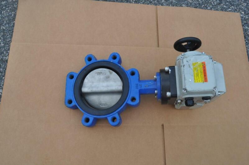 """ABZ BUTTERFLY VALVE 6"""" SS DISK  W/DUNCAN 1020 SERIES ACTUATOR MAN OVERRIDE 120V"""
