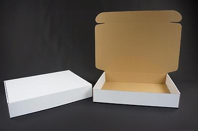 500 White Postal Cardboard Boxes Mailing Shipping Cartons Small Parcel Mail AP11