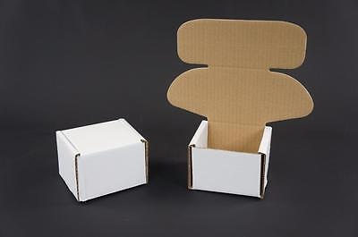 500 White Postal Cardboards Boxes Mailing Shipping Cartons Small Parcel Mail AP5