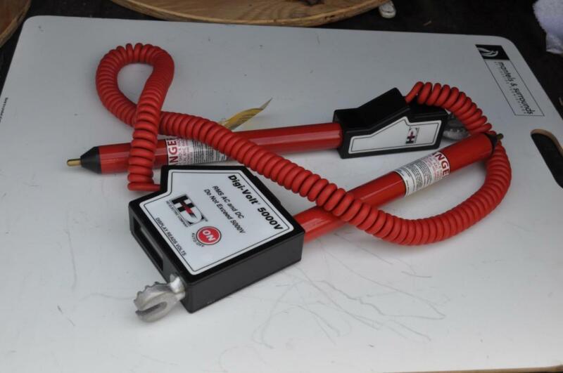 HD ELECTRIC CO  DVM-5000V  DIGITAL MULTIMETER PHASING SET  5000VOLT