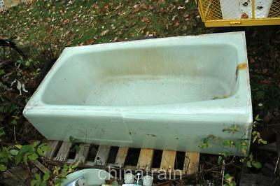 Vintage Antique American Standard 5' Green Cast Iron Bathtub Bath Tub (American Standard Cast Iron Tub)