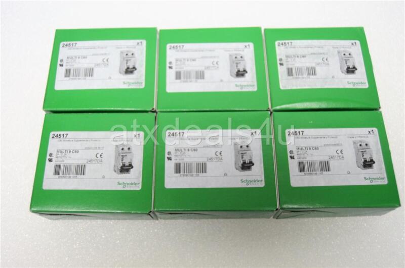 Schneider Electric 24517 Multi 9 C60 2 Pole 2 Amp Circuit Breaker New Lot of 6