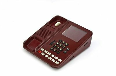 Vodavi Starplus Analog Sp 61610 Basic Phone Red With Hanset  Curley Cord