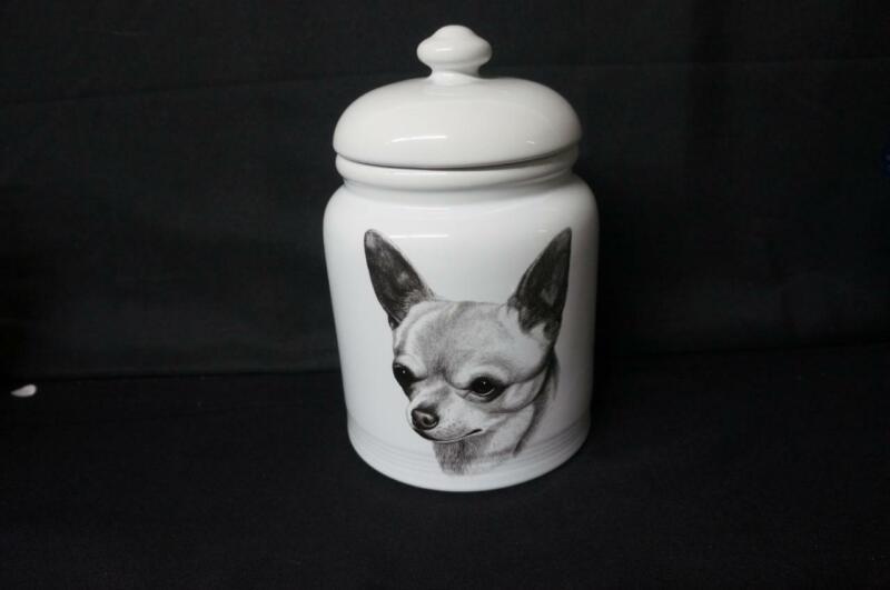"Vintage The Best of Show Rosalinde Chihuahua 10"" Porcelain Dog Treat Jar"