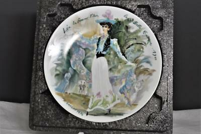 Women Of The Century 1900 Fashion LEA WOMAN FLOWER Of BEAUTIFUL ERA Plate COA